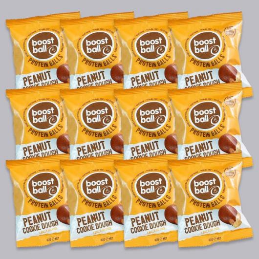 BoostBall Peanut Butter Cookie Dough Protein Balls  - 12 x 42g
