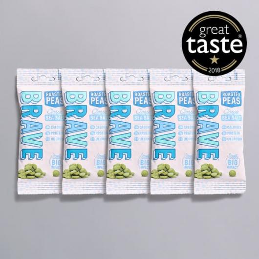 Roasted Pea Snacks 6.8g+ Protein x 5 Sea Salt for £4.45