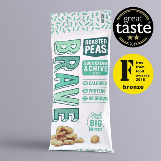 Roasted Peas Sour Cream & Chive 35g