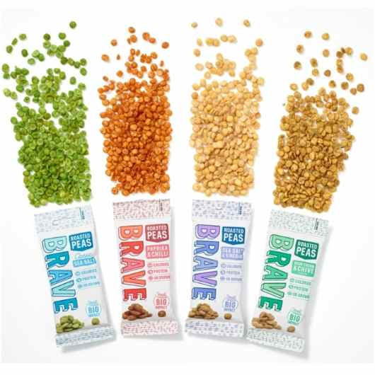 Roasted Pea Snacks 6.8g+ Protein By Brave