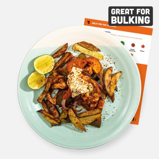 Bulking Piri Piri Chicken with Roasted Vegetables Recipe Kit