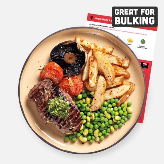 Bulking Steak, Chips & Herb Butter Recipe Kit