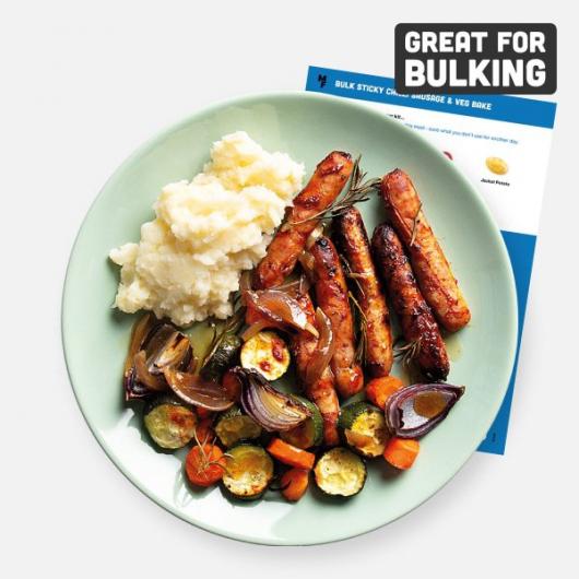 Bulking Sticky Chilli Sausage & Veg Bake Recipe Kit
