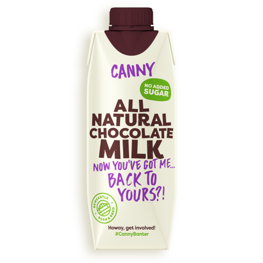 100% Natural Chocolate Milk by Canny - 330ml
