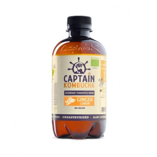 Captain Kombucha Bio-Organic 400ml-Ginger Lemon