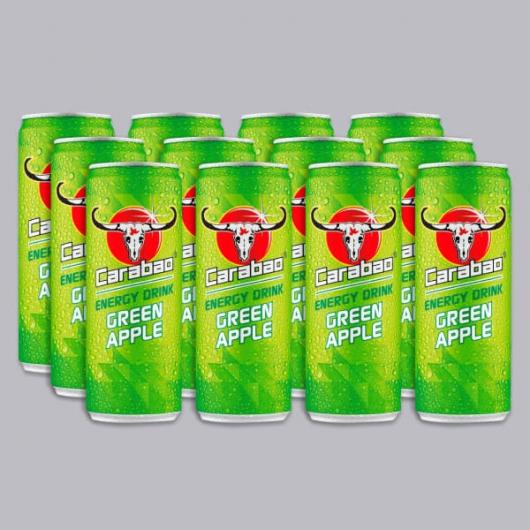 Carabao Green Apple Energy Drinks 12 x 330ml