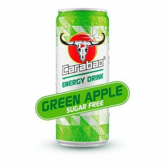 12 x Carabao Green Apple Sugar Free Energy Drink