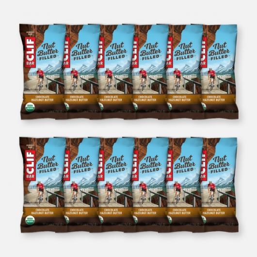 Clif Bar Nut Butter Filled - Chocolate Hazelnut Butter - 12 x 50g