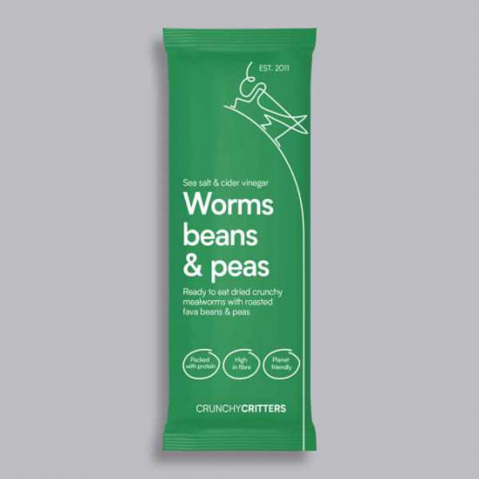 Crunchy Critters - Salt and Vinegar Worms, Beans and Peas 30g