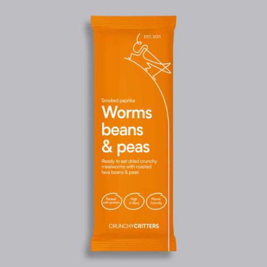 Crunchy Critters - Smoked Paprika Worms, Beans and Peas 30g