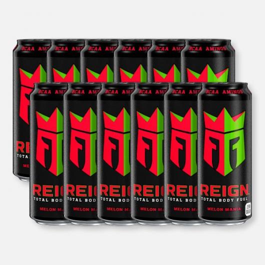 Melon Mania Reign Zero Calorie BCAA Energy Drink 12 x 500ml