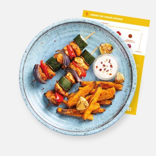 Dragon Fire Chicken Skewers Recipe Kit MF_RKM12