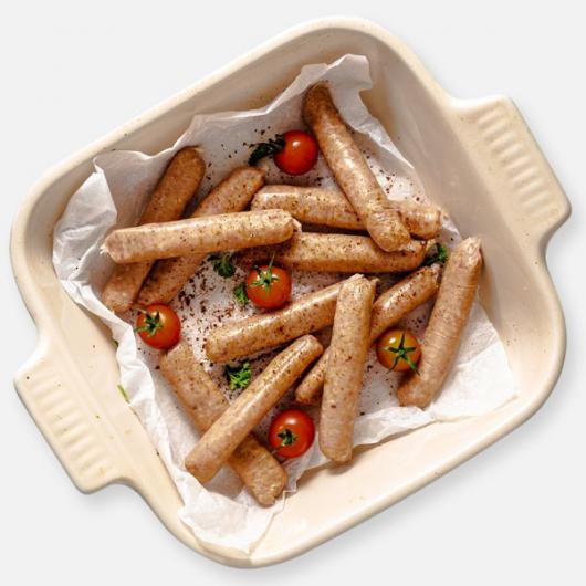 Lean Chilli & Garlic Chicken Sausages - 12 x 33g