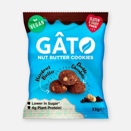 GATO Mini Cookies - Hazelnut Butter & Double Choc 33g