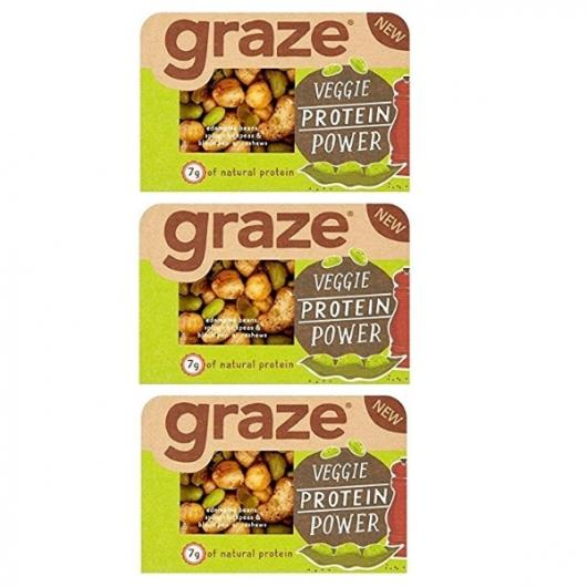 3 x Graze Veggie Protein Power Nuts JUST £2