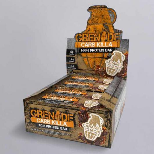 Caramel Chaos Grenade® Carb Killa Protein Bars - 12 x 60g