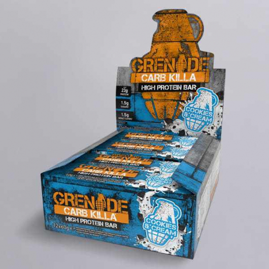 Cookies & Cream Grenade® Carb Killa Protein Bars - 12 x 60g MF_SN263