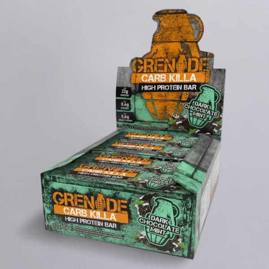 Grenade® Carb Killa™ Bars-12 x 60g Bars-Dark Choc Mint MF_SN306_BOX