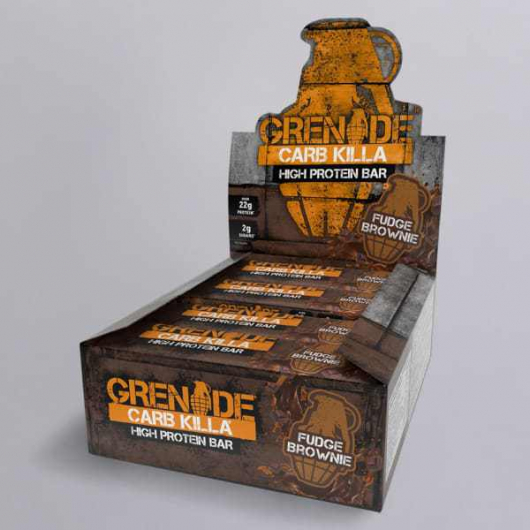 Grenade®  Carb Killa™ Bars - 12 x 60g Fudge Brownie MF_SN284_BOX