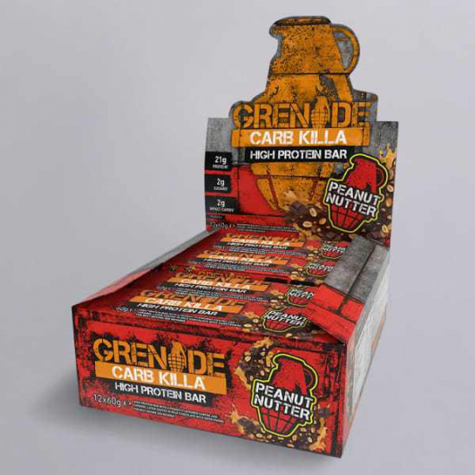 Grenade® Carb Killa™ Bars-12 x 60g-Peanut Nutter  MF_SN442_BOX