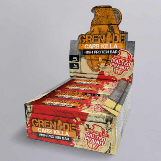 Grenade® Carb Killa™ Bars-12 x 60g-White Chocolate Salted Peanut MF_SN221_new