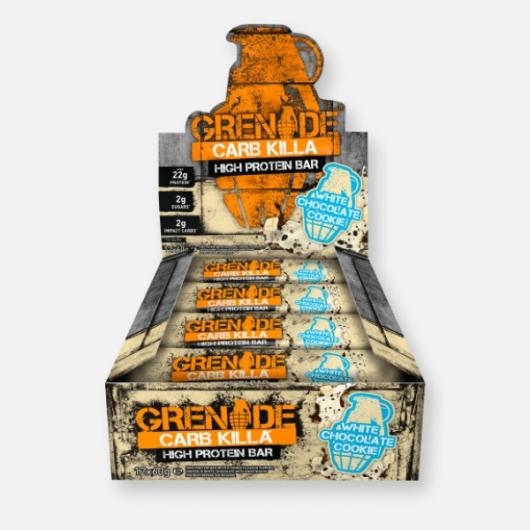 Grenade® Carb Killa™ Bars-12 x 60g-White Chocolate Cookie MF_SN304_BOX