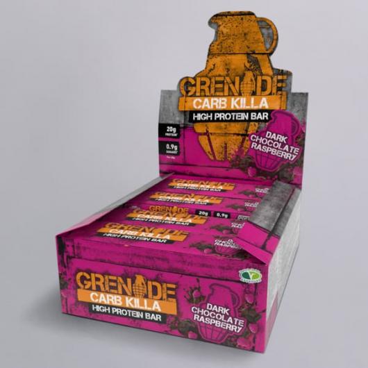 Grenade® Carb Killa™ Bars-12 x 60g-Dark Chocolate Raspberry