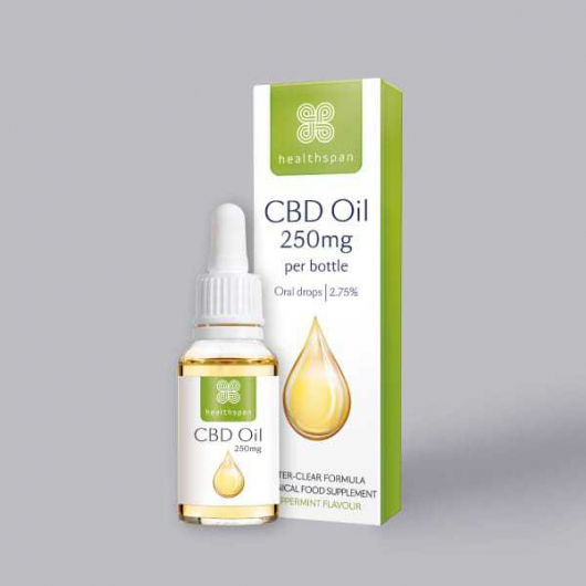 Healthspan CBD Oil 250mg (2.75%) Oral Drops - 10ml