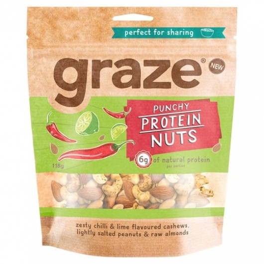 Graze Punchy Protein Nuts Sharing Bag 118g ****