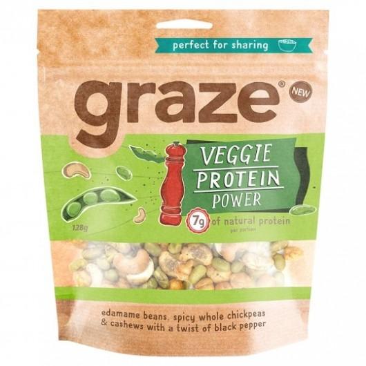 Graze Veggie Protein Power Sharing Bag - 128g