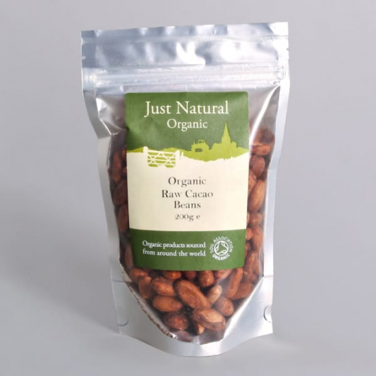 Raw Organic Cacao Beans (Peru) - 200g