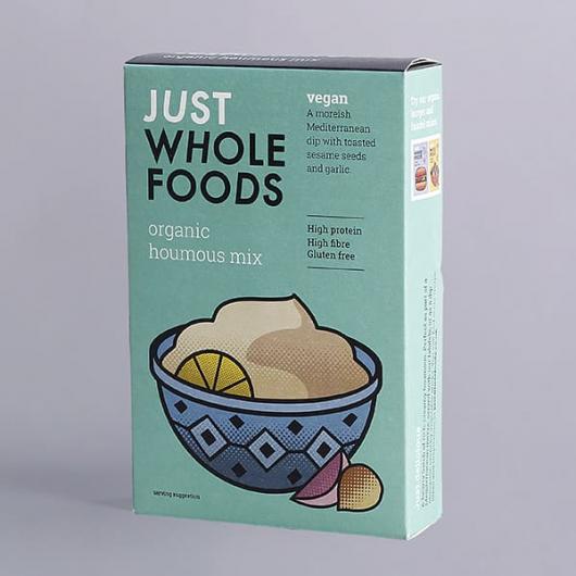 Just Wholefoods Organic Vegan Houmous Mix