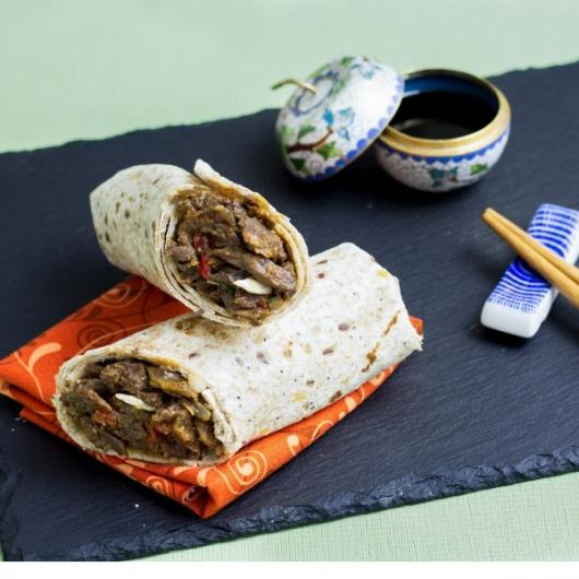 Nom Noms Korean Beef Wrap with Sunflower Seeds