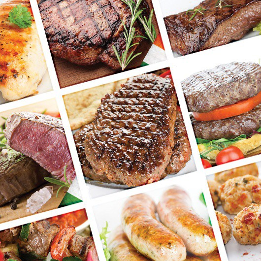 Lean Mean Chicken and Beef Steak Selection