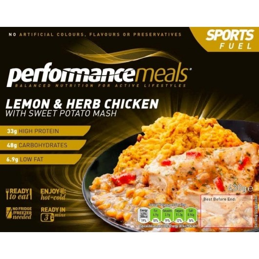 3 x Lemon & Herb Chicken Performance Meal 340g