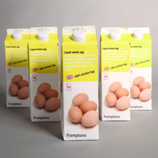 5 x British Liquid Whole Eggs Cartons