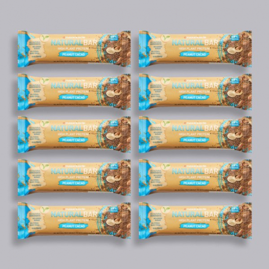 Maximuscle Natural Bar Peanut Cacao - 10 x 40g