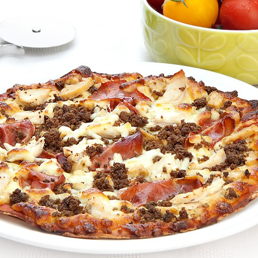 Mighty Meaty High Protein Pizza