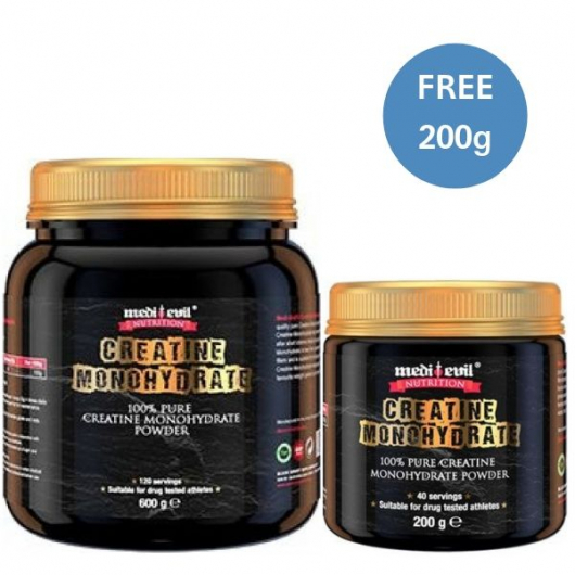 Medi-Evil Creatine Monohydrate 600g and get 200g Free!
