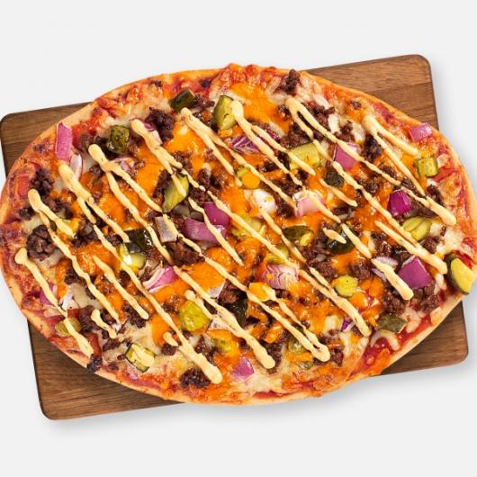 High Protein Cheeseburger Pizza - 398kcal