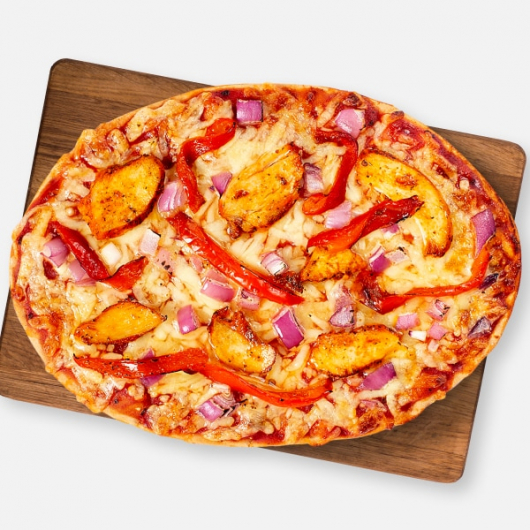 High Protein Chicken Tikka Pizza