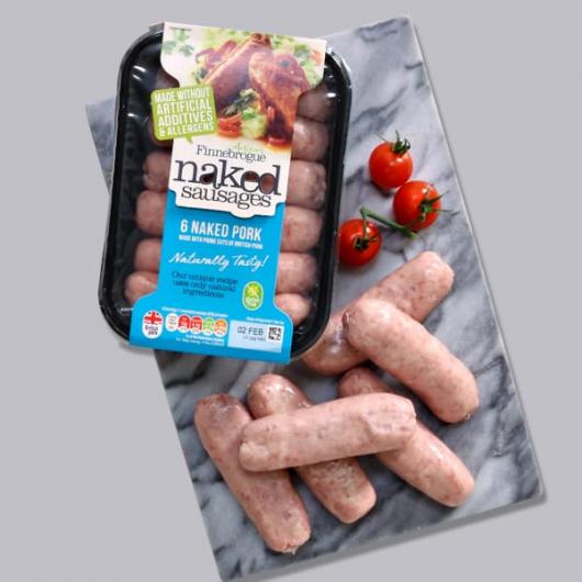 Finnebrogue Naked Ultimate Pork Sausage 400g