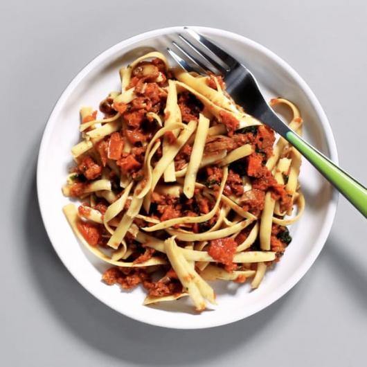 Mushroom & Spinach Bolognese Pot - 217 kcal