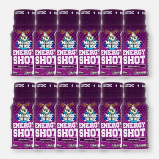 Moose Juice Energy Shot  - Grapetastic 12 x 60ml