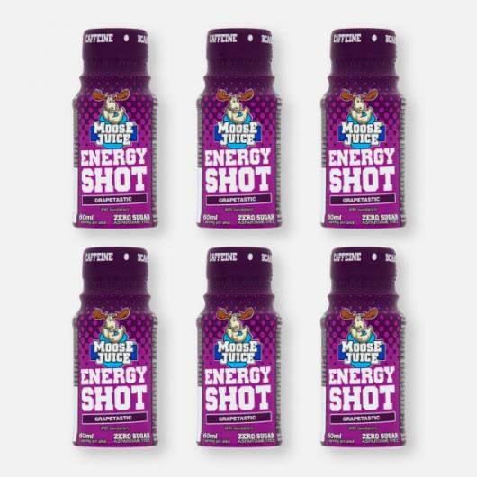 Moose Juice Energy Shot  - Grapetastic 6 x 60ml