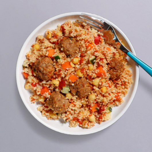 Moroccan Meatball & Cous Cous Pot - 30g Protein & 413 Kcal