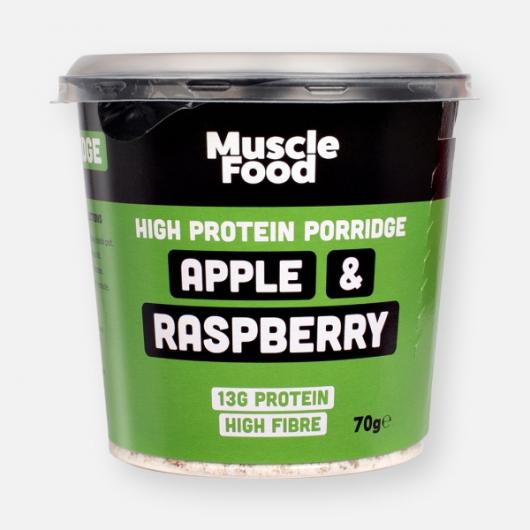 MuscleFood High Protein Apple & Raspberry Porridge Pot - 70g