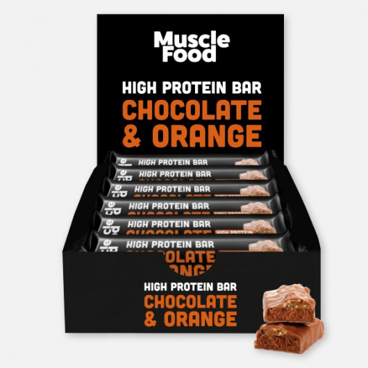 Musclefood Chocolate Orange High Protein Bar 12 x 45g