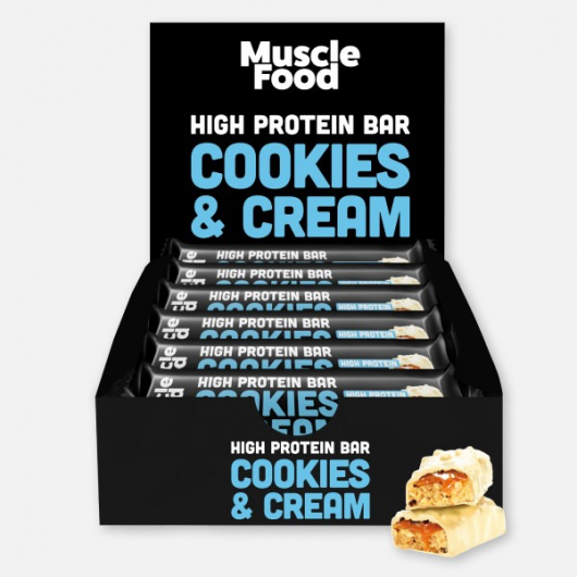 Musclefood Cookies and Cream High Protein Bar 12 x 45g
