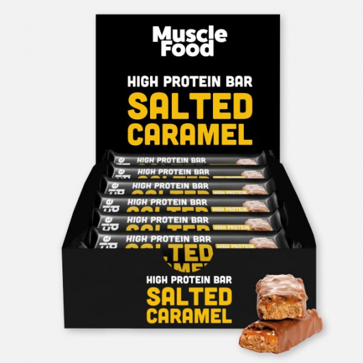 Musclefood Salted Caramel High Protein Bar 12 x 45g